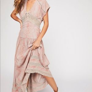 Free People NWT prairie dress pink 4 and 6 maxi
